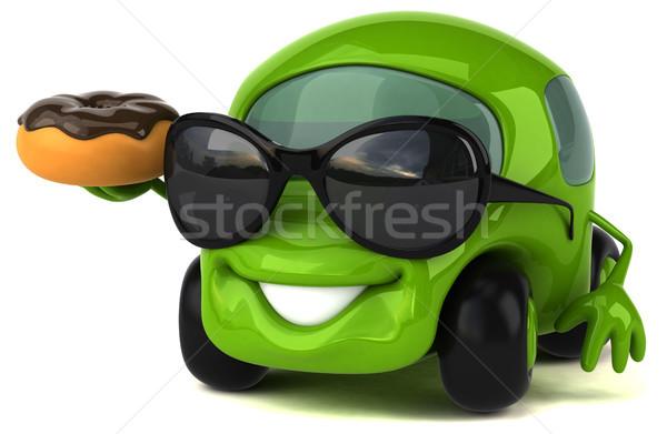 Leuk auto 3d illustration weg chocolade energie Stockfoto © julientromeur