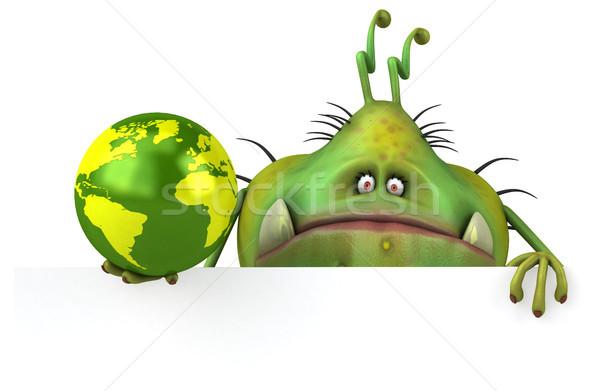 Jókedv bacilus 3d illusztráció egészség bolygó rajz Stock fotó © julientromeur