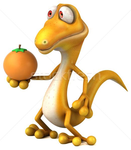 楽しい トカゲ フルーツ 色 動物 恐竜 ストックフォト © julientromeur