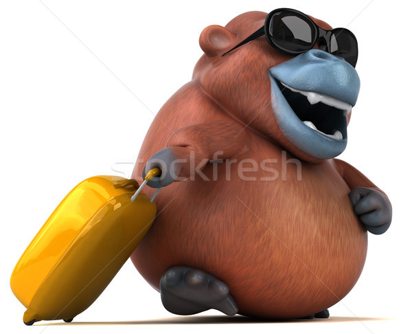 Fun Orangutan - 3D Illustration Stock photo © julientromeur