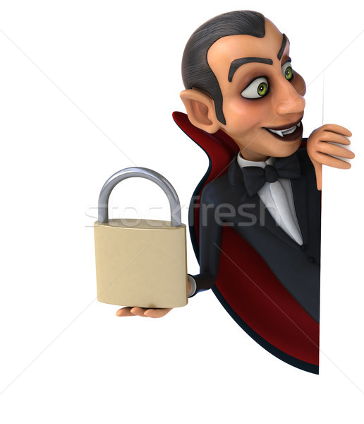 Vampier kunst mond lippen zwarte gothic Stockfoto © julientromeur