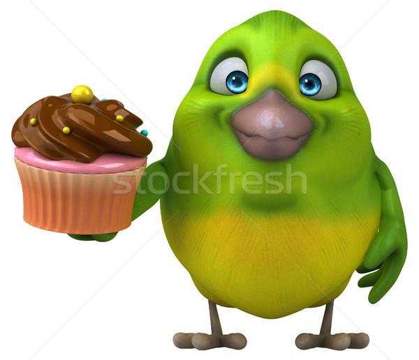 Eğlence yeşil kuş 3d illustration çikolata Stok fotoğraf © julientromeur