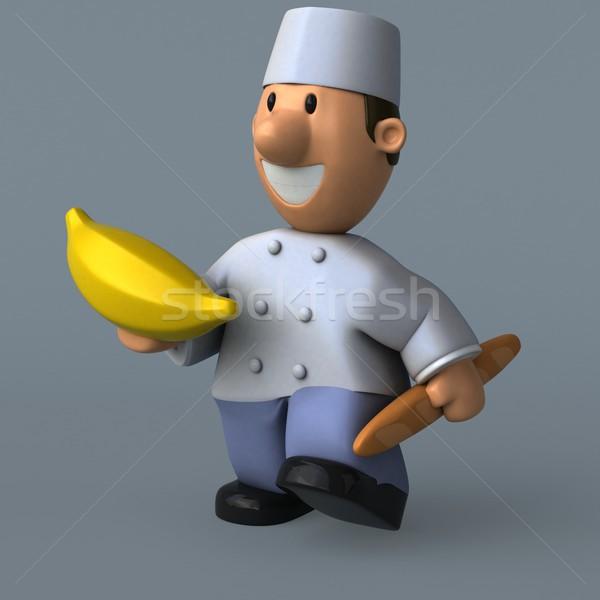 Desenho animado padeiro ilustração 3d banana cozinhar Foto stock © julientromeur