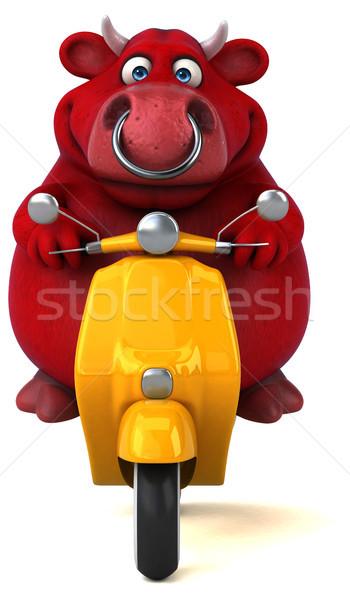 Eğlence kırmızı boğa 3d illustration dizayn model Stok fotoğraf © julientromeur