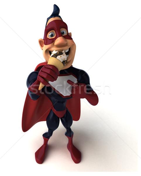 Distracţie superhero ilustrare 3d corp ciocolată albastru Imagine de stoc © julientromeur