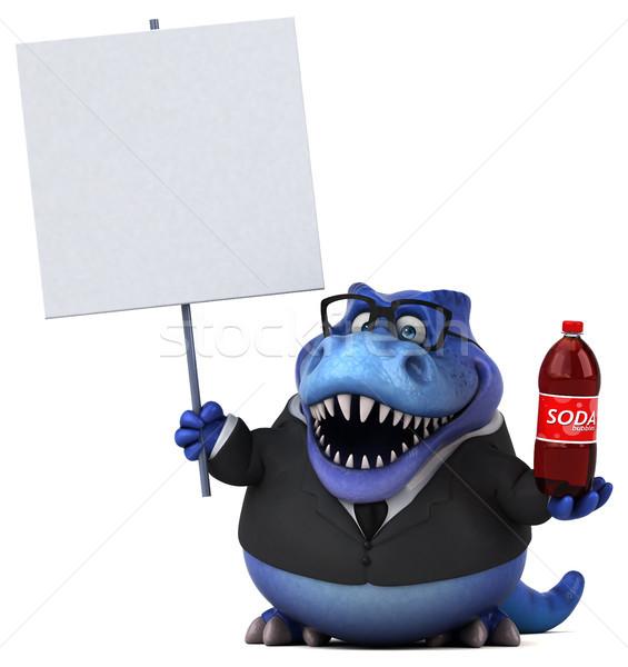 Сток-фото: весело · 3d · иллюстрации · бизнеса · бизнесмен · пить · Финансы