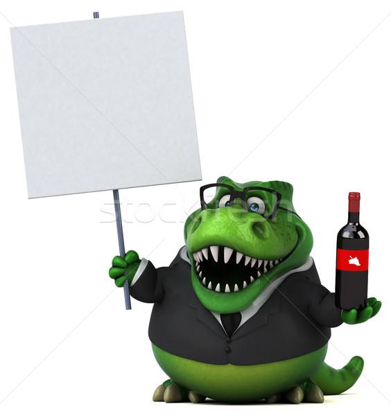 весело 3d иллюстрации бизнеса вино бизнесмен пить Сток-фото © julientromeur