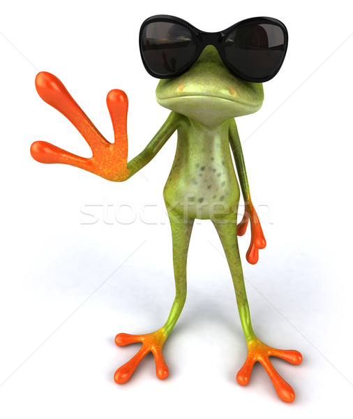 Stock photo: Cool frog