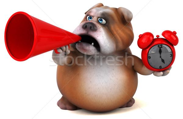 Stock photo: Fun bulldog - 3D Illustration