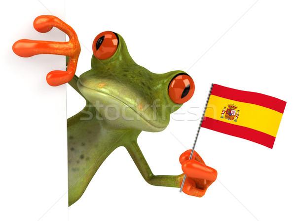 Leuk kikker oog vlag tropische 3D Stockfoto © julientromeur