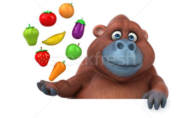 Eğlence 3d illustration doğa turuncu Afrika maymun Stok fotoğraf © julientromeur