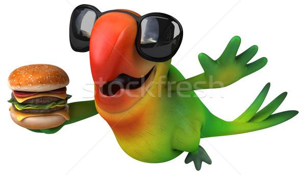 楽しい オウム 眼 鳥 緑 ジャングル ストックフォト © julientromeur