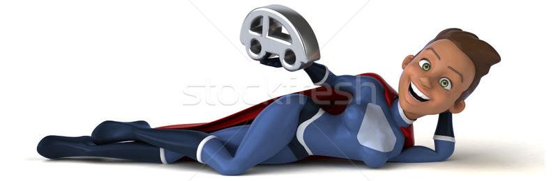 Szuper nő autó divat test modell Stock fotó © julientromeur