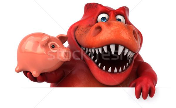 Diversão dinossauro ilustração 3d financiar dentes animal Foto stock © julientromeur