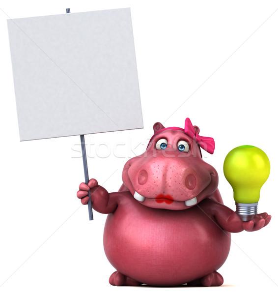 Pembe suaygırı 3d illustration kadın yağ hayvan Stok fotoğraf © julientromeur