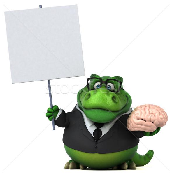 Jókedv 3d illusztráció üzlet üzletember agy pénzügy Stock fotó © julientromeur