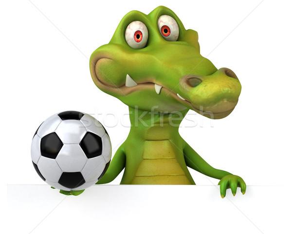 Krokodil eğlence futbol mutlu dizayn futbol Stok fotoğraf © julientromeur