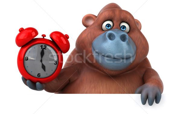 Eğlence 3d illustration saat doğa Afrika maymun Stok fotoğraf © julientromeur