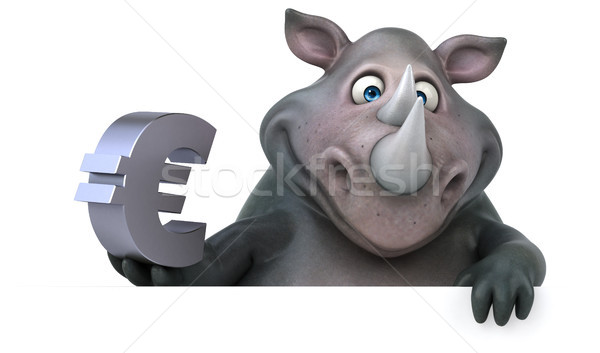 Leuk neushoorn 3d illustration business financieren vet Stockfoto © julientromeur