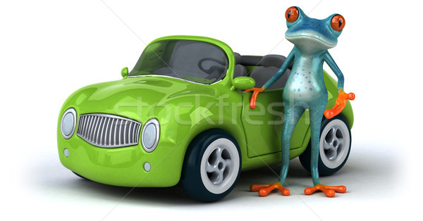 Diversão sapo ilustração 3d carro ambiente ilustração Foto stock © julientromeur