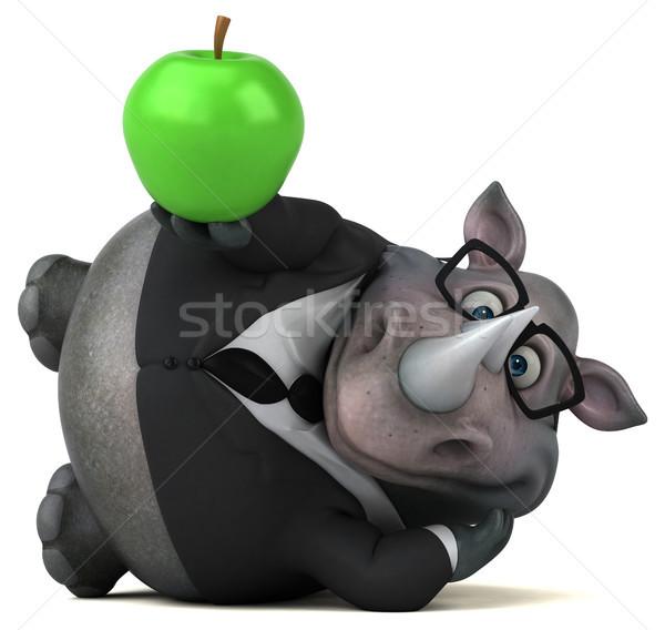 楽しい サイ 3次元の図 リンゴ フルーツ ビジネスマン ストックフォト © julientromeur