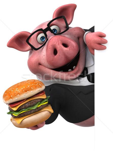 Diversión cerdo 3d empresario traje grasa Foto stock © julientromeur