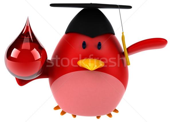 Red bird - 3D Illustration Stock photo © julientromeur