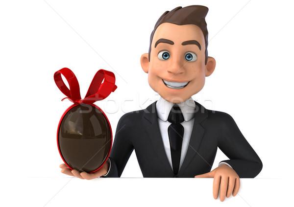 Eğlence işadamı çikolata takım elbise erkek başarı Stok fotoğraf © julientromeur