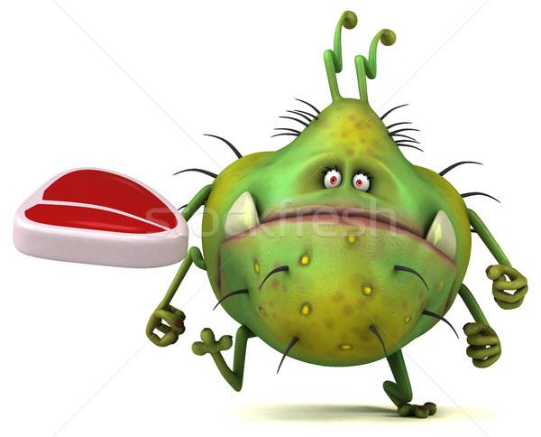 Jókedv bacilus 3d illusztráció egészség hús rajz Stock fotó © julientromeur
