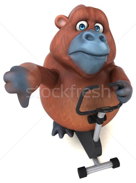 Eğlence orangutan 3d illustration doğa bisiklet Afrika Stok fotoğraf © julientromeur