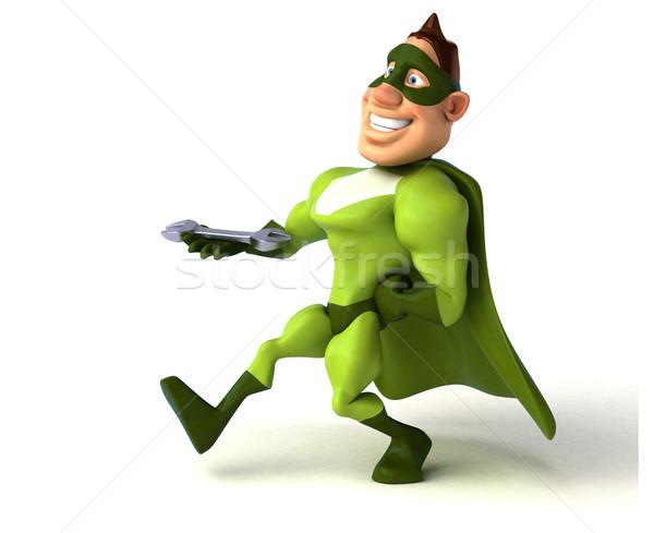 Zabawy superhero człowiek ciało pracownika prędkości Zdjęcia stock © julientromeur
