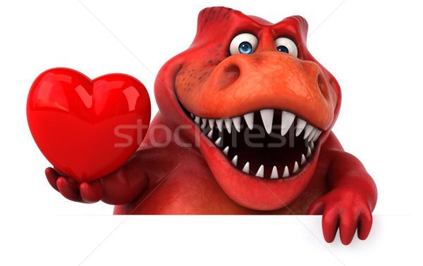 Leuk dinosaurus 3d illustration tanden dier geschiedenis Stockfoto © julientromeur