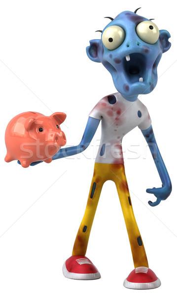 Divertimento zombie illustrazione 3d soldi uomo sangue Foto d'archivio © julientromeur