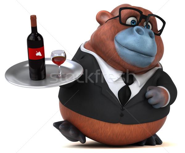 Stok fotoğraf: Eğlence · 3d · illustration · iş · şarap · doğa · işadamı