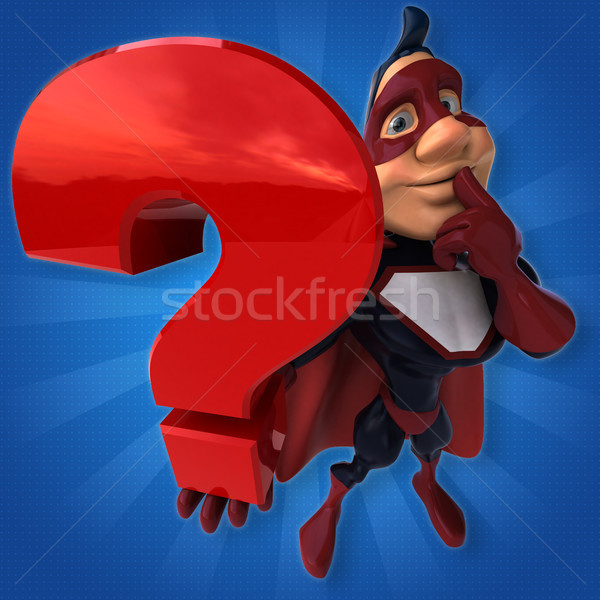 Fun superhero - 3D Illustration Stock photo © julientromeur