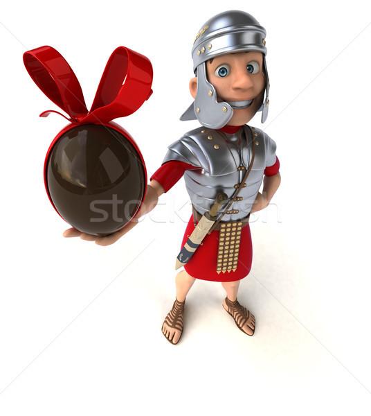 Roma asker çikolata kılıç kavga ordu Stok fotoğraf © julientromeur