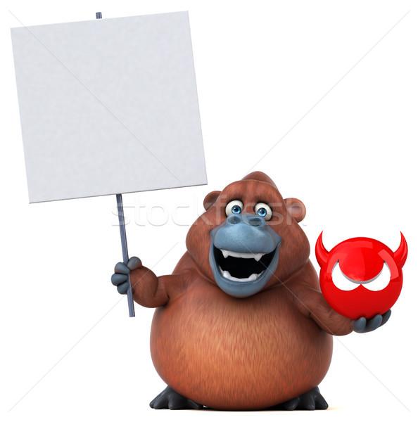 Zabawy 3d ilustracji charakter Afryki małpa funny Zdjęcia stock © julientromeur