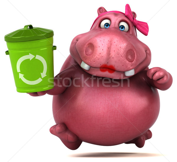 Pink Hippo - 3D Illustration Stock photo © julientromeur