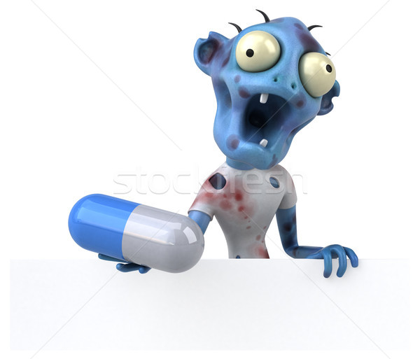 Jókedv zombi 3d illusztráció vér gyógyszer halál Stock fotó © julientromeur