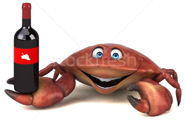 Diversão caranguejo ilustração 3d natureza beber jantar Foto stock © julientromeur