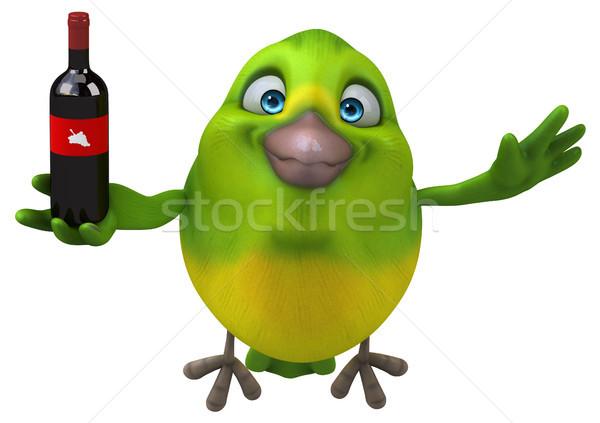 Zabawy zielone ptaków 3d ilustracji Zdjęcia stock © julientromeur