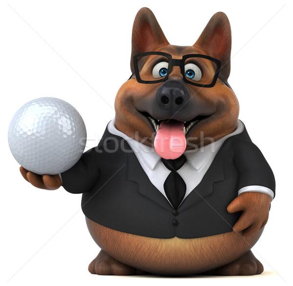楽しい 羊飼い 犬 3次元の図 ゴルフ ボール ストックフォト © julientromeur