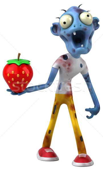весело зомби 3d иллюстрации кровь смерти клубника Сток-фото © julientromeur