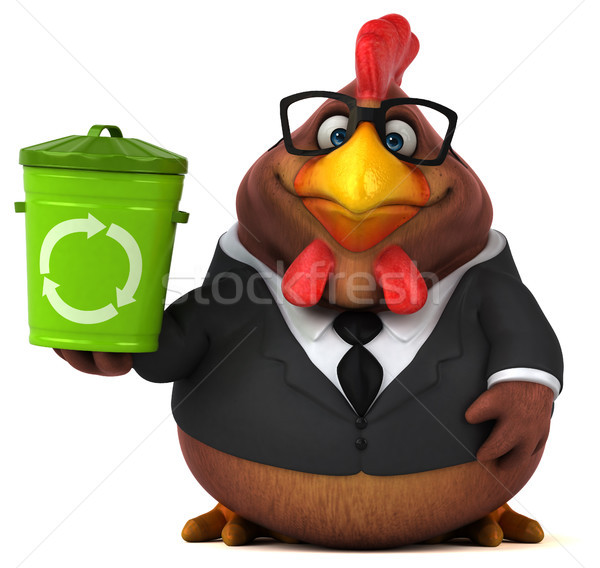Fun chicken - 3D Illustration Stock photo © julientromeur