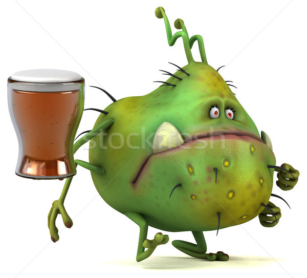 Fun germ - 3D Illustration Stock photo © julientromeur