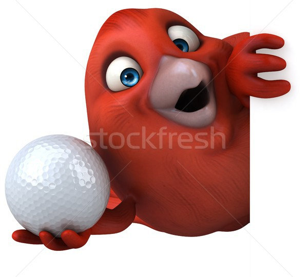 красный птица оранжевый груди мяча золото Сток-фото © julientromeur