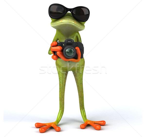 Leuk kikker technologie digitale dier foto Stockfoto © julientromeur