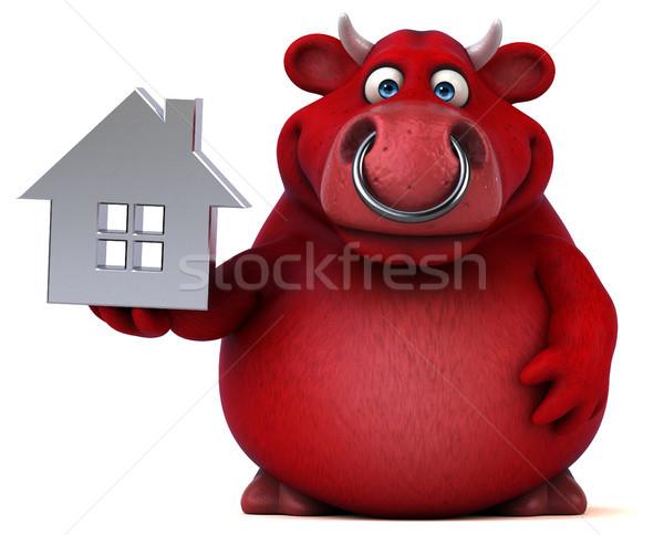 赤 牛 3次元の図 髪 ホーム 牛 ストックフォト © julientromeur