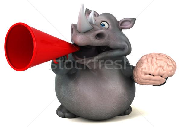 Fun rhinoceros - 3D Illustration Stock photo © julientromeur
