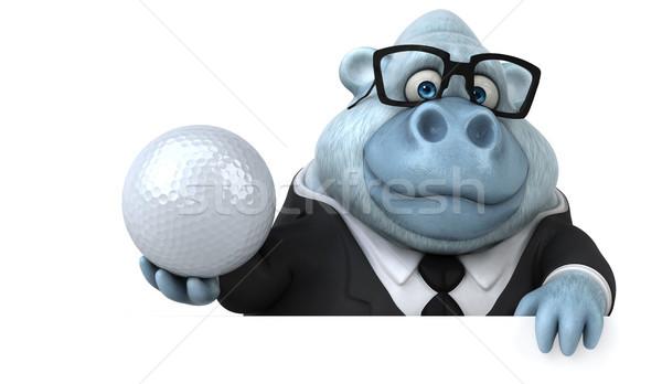 Eğlence beyaz maymun 3d illustration golf spor Stok fotoğraf © julientromeur